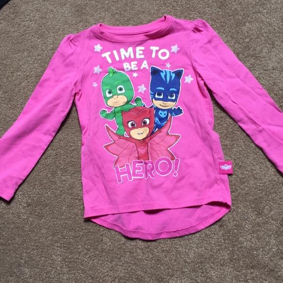 PJ MASKS Girls Long Sleeve T-Shirt Pink